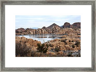 Prescott Arizona Winter Dells I Framed Print