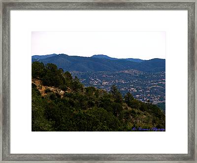 Prescott Mountainsides Framed Print