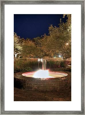 Prescott Park Fountain Framed Print by Joann Vitali
