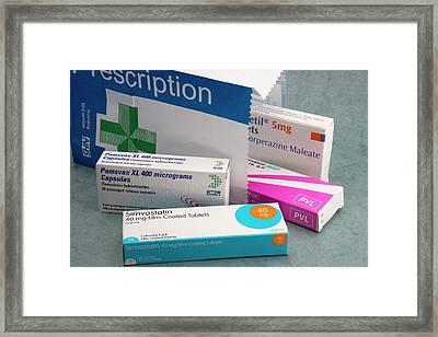 Prescription Drugs Framed Print by Sheila Terry
