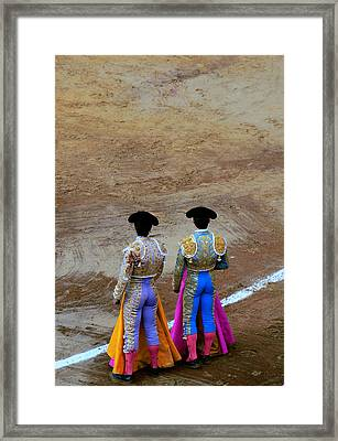 Presence Of The Bullfighters Framed Print by Laura Jimenez
