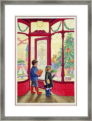 Present Buying Watercolour On Paper Framed Print