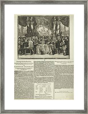 Presentation And Description Of The Appointment Of Prince Framed Print