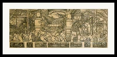 Diego Rivera Drawings Framed Prints