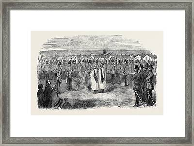 Presentation Of New Colours To The West Kent Light Infantry Framed Print by English School