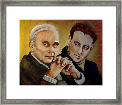 Framed Print featuring the painting Presenting A United Front by Irena Mohr
