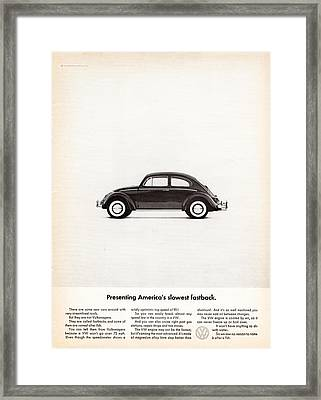 Presenting America's Slowest Fastback Framed Print by Georgia Fowler