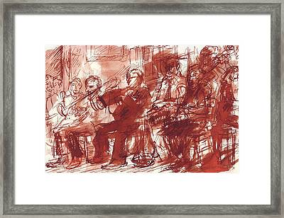 Preservation Hall Band New Orleans  Framed Print by Edward Ching