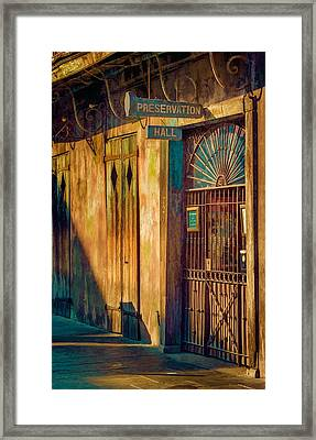 Preservation Hall Framed Print by Brenda Bryant