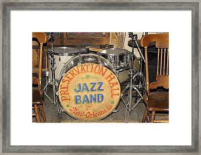 Preservation Hall Jazz Band Drum Framed Print