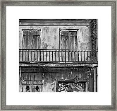 Preservation Hall - Oil Bw Framed Print