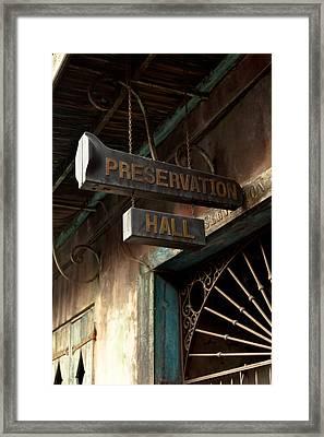 Preservation Hall Framed Print by Susie Hoffpauir