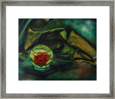 Preserved Rose . . Draped Canvas Framed Print by Sean Connolly