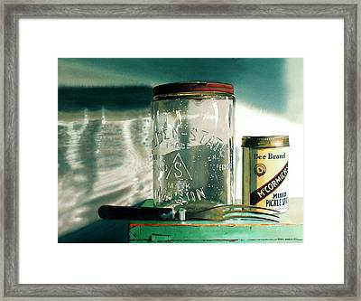 Preserving Framed Print by Denny Bond