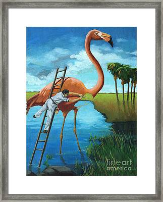 Preserving Wildlife Framed Print by Linda Apple