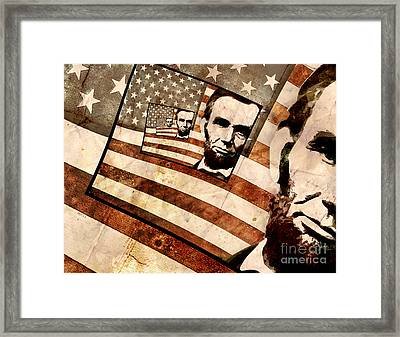 President Abraham Lincoln Framed Print by Phil Perkins