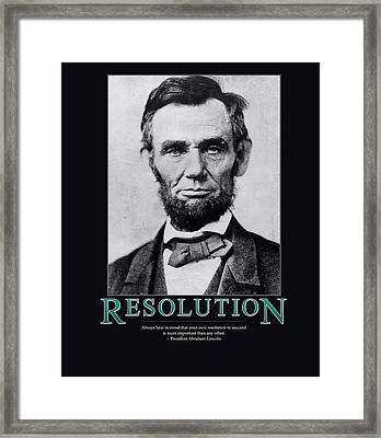President Abraham Lincoln Resolution  Framed Print
