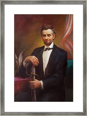 President Abraham Lincoln Framed Print by Svitozar Nenyuk