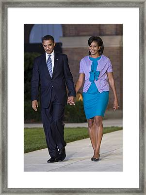 President And First Lady Framed Print by JP Tripp