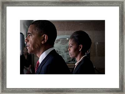 President And Mrs Obama Framed Print by Mountain Dreams