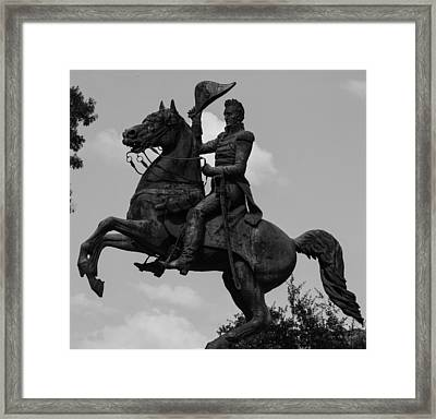 Framed Print featuring the photograph President Andrew Jackson Statue by Robert Hebert