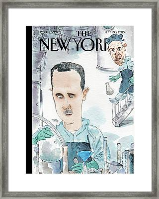 President Assad Cooks Up A Chemical Cocktail Framed Print