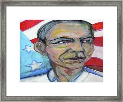 President Barack Obama  Framed Print by Derrick Hayes