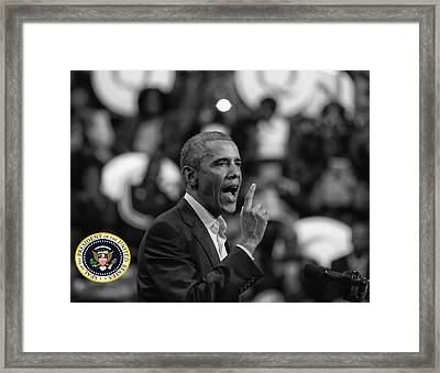 President Barack Obama Framed Print by Jerome Lynch