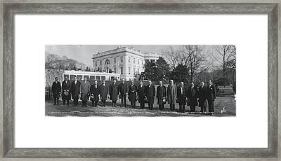 President Coolidge White House Framed Print by Fred Schutz Collection