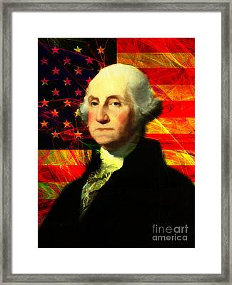 President George Washington V2 M20 Framed Print by Wingsdomain Art and Photography