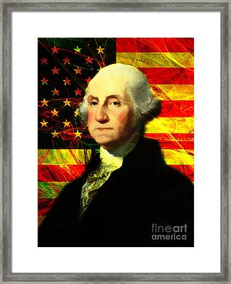 President George Washington V2 Framed Print by Wingsdomain Art and Photography