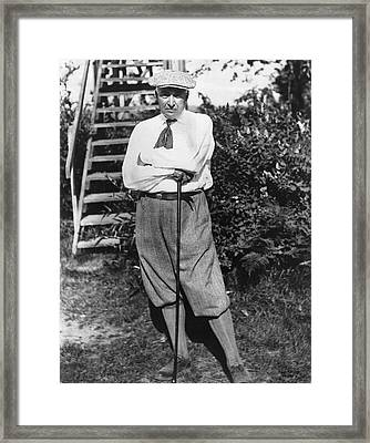President Harding Playing Golf Framed Print by Underwood Archives