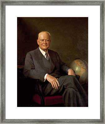 President Herbert Hoover By Elmer Wesley Greene Framed Print by Movie Poster Prints
