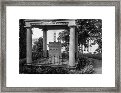 President James K Polk Tomb Framed Print by Robert Hebert
