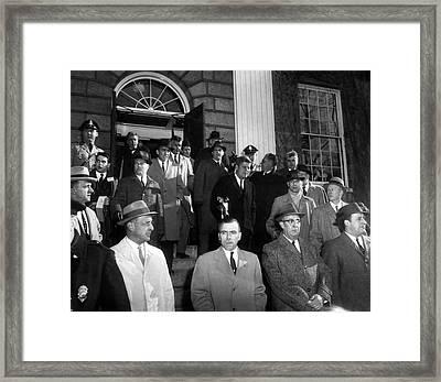 President John F. Kennedy Coming Up Steps Framed Print