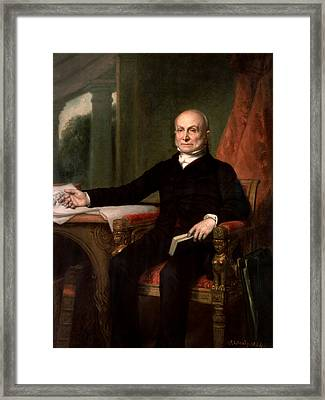 President John Quincy Adams  Framed Print