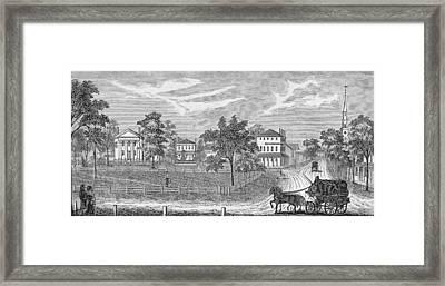 President Lincoln Leaving The Davis Mansion, Illustration From Battles And Leaders Of The Civil Framed Print