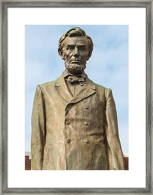 President Lincoln Statue Framed Print by Tikvah's Hope