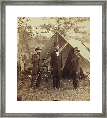 President Lincoln, United States Headquarters, Army Framed Print by Litz Collection