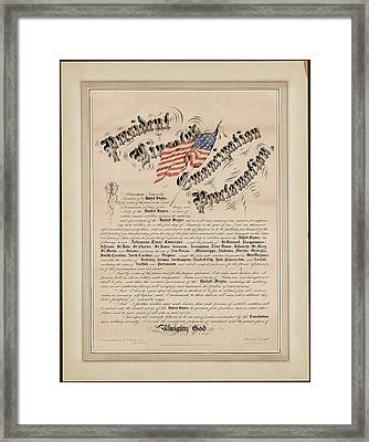 President Lincolns Emancipation Proclamation 2 Framed Print by MotionAge Designs
