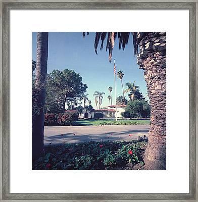 President Nixons Home In San Clemente Framed Print
