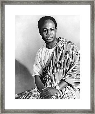 President Nkrumah Of Ghana. Framed Print