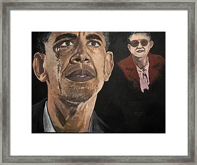 President Obama And Grandmom Framed Print by Roger  James