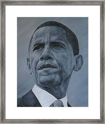 President Obama Framed Print by David Dunne
