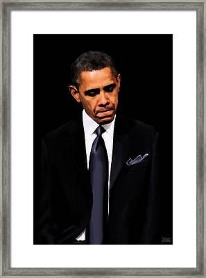 President Obama Framed Print by Jann Paxton