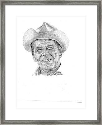President Reagan Framed Print by Richard Johns
