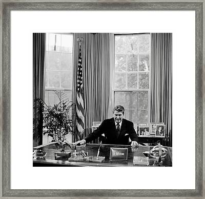 President Ronald Reagan Framed Print by Mountain Dreams