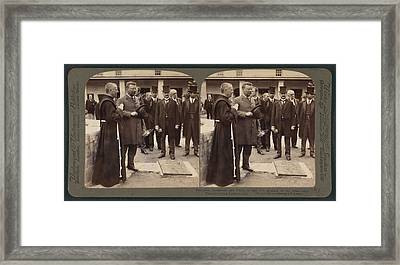 President Roosevelt And Party At The Old Mission Framed Print