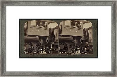 President Roosevelt On A Santa Fe Engine Framed Print