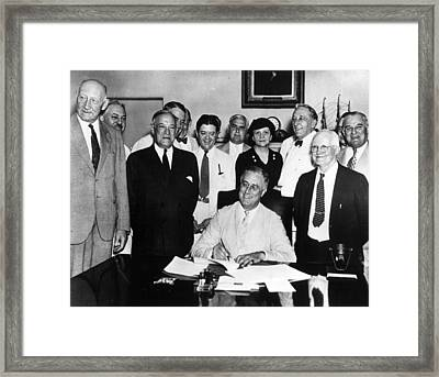 President Roosevelt Framed Print by Retro Images Archive